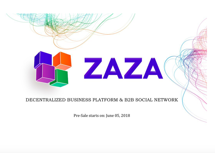 Business Activity Optimizer and B2B Social Network ZAZA Announces Pre Sale for its Native Token