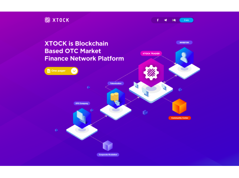 Blockchain-Based OTC Trading Platform Xtock Announces Alpha Website Launch and Prepares for Global Marketing