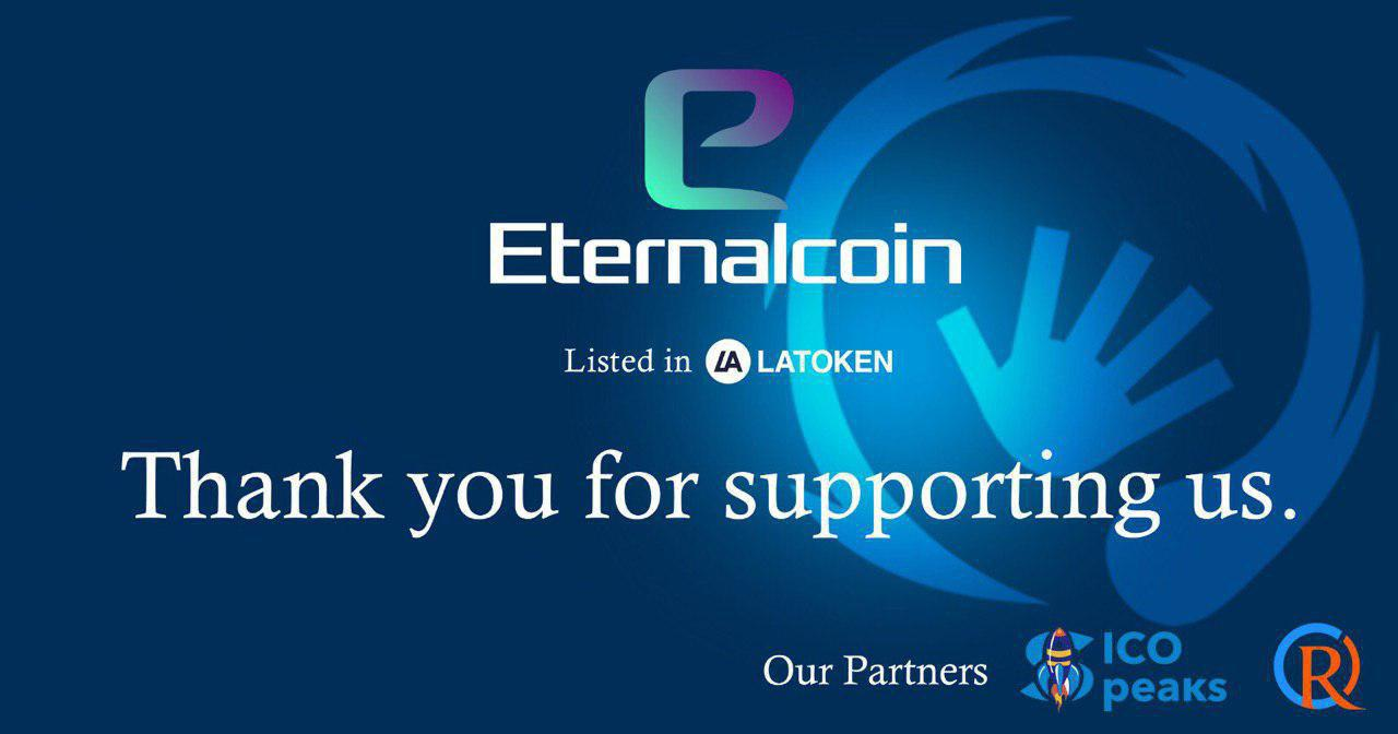 Eternalcoin Announces Initial Exchange Offering on LATOKEN Exchange to Start May 20th
